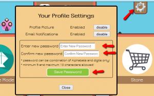 user settings